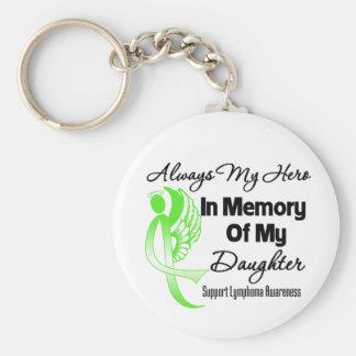 Always My Hero In Memory Daughter - Lymphoma Keychains