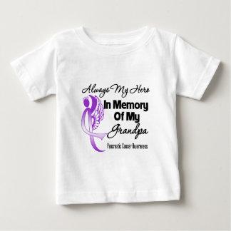 Always My Hero In Memory Grandpa - Pancreatic Canc Baby T-Shirt