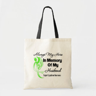 Always My Hero In Memory Husband - Lymphoma Canvas Bag