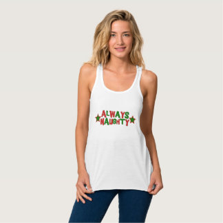 Always Naughty, Never Nice Roller Derby Christmas Singlet
