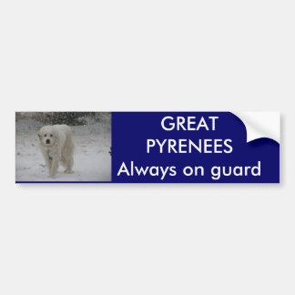 Always on guard bumper sticker