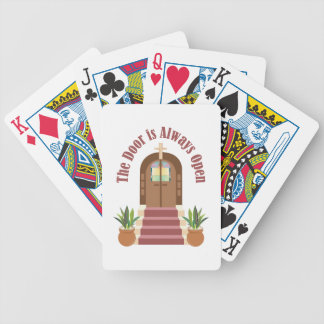 Always Open Bicycle Playing Cards
