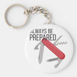 Always Prepared Basic Round Button Key Ring