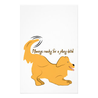 Always Ready For A Play Date Customized Stationery