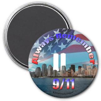 Always Remember 9/11 7.5 Cm Round Magnet