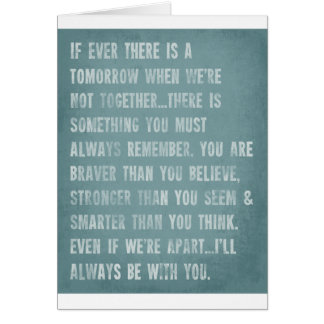 Always Remember AA Milne Quote Greeting Card