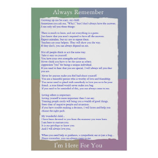 Always Remember I'm Here For You Poster