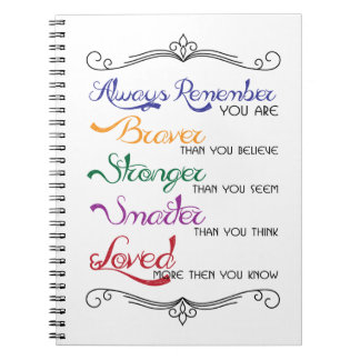 Always Remember note pad Note Book