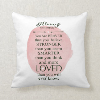 Always Remember You Are Loved More Than You Know Throw Cushion