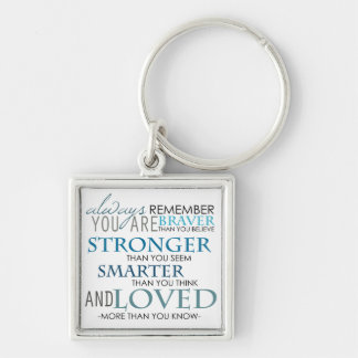 Always Remember You Are The Best Text Keychain