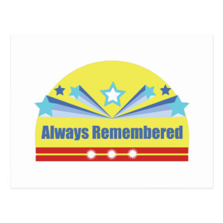 Always Remembered Postcard