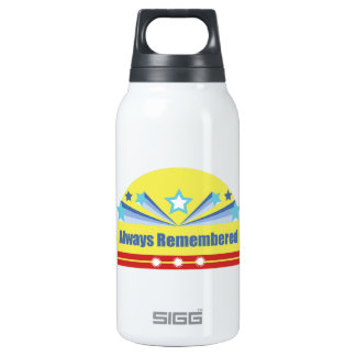 Always Remembered 10 Oz Insulated SIGG Thermos Water Bottle