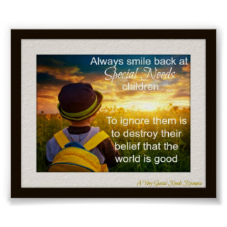 Always Smile Back Special Need Children Poster