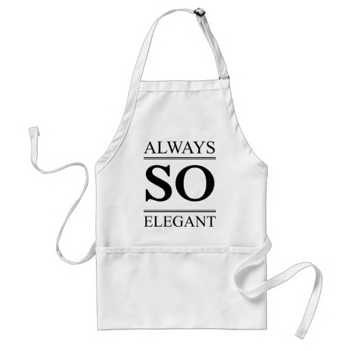 Always so elegant aprons