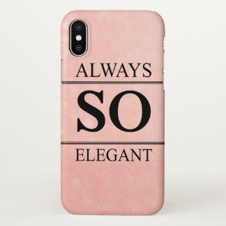 Always so elegant iPhone x case