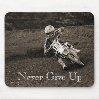 always take a handful, Never Give Up Mouse Pad