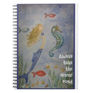 Always take the scenic road notebook
