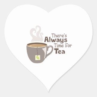 Always Tea Time Heart Sticker