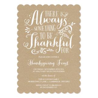 Always Thankful   Kraft Thanksgiving Invitation