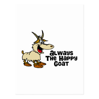 Always The Happy Goat Postcard