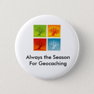 Always the Season For Geocaching GeoSwag Pin