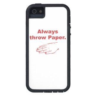 Always Throw Paper iPhone 5 Cases