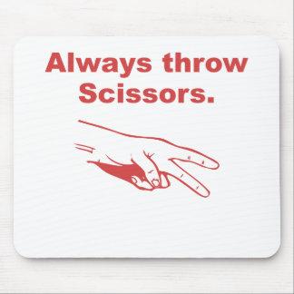Always Throw Scissors Mouse Pad