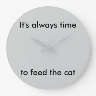 Always Time to Feed the Cat Clock