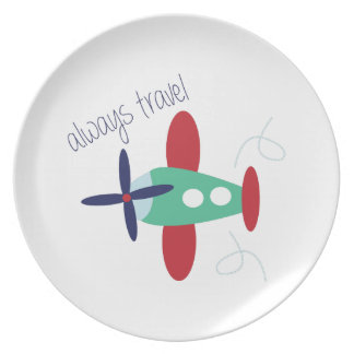 Always Travel Party Plates