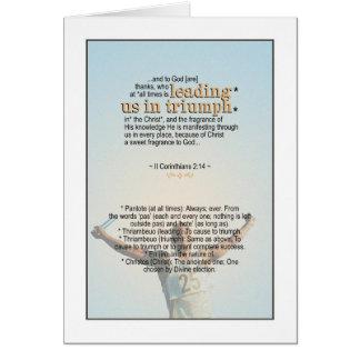 Always Triumphant - II Corinthians 2:14 Card