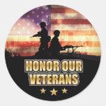 Always Veterans Day Sticker Round Stickers
