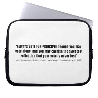 Always Vote For Principle John Quincy Adams Computer Sleeve