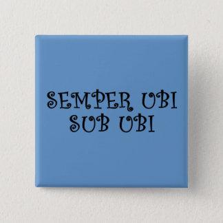 Always wear underwear (Latin) 15 Cm Square Badge
