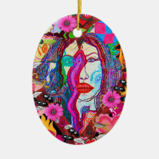 Alyce on Wonderland Ceramic Ornament