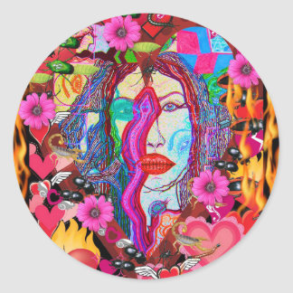 Alyce on Wonderland Classic Round Sticker