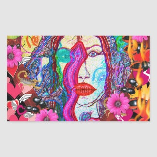 Alyce on Wonderland Rectangular Sticker
