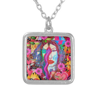 Alyce on Wonderland Silver Plated Necklace