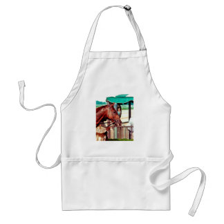 Alydar Thoroughbred Racehorse 1979 Aprons