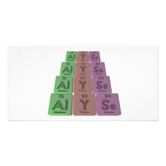 Alyse as Aluminium Yttrium Selenium Custom Photo Card
