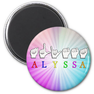 ALYSSA ASL FINGERSPELLED NAME SIGN DEAF MAGNET
