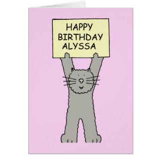 Alyssa Happy Birthday Greeting Card