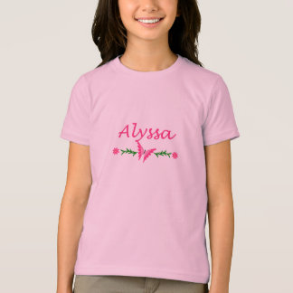 Alyssa (Pink Butterfly) T-Shirt