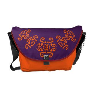 Alyssa Purple & White Classy Commuter Bag