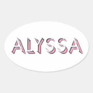 Alyssa sticker