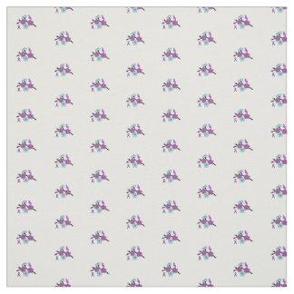 Alzheimers awareness fabric