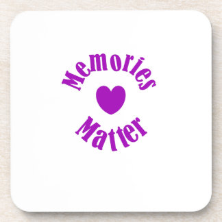Alzheimers Awareness Purple Ribbon Memories Love Coaster