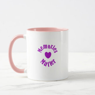 Alzheimers Awareness Purple Ribbon Memories Love Mug