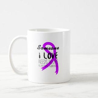 Alzheimers Awareness  Purple Ribbon Support Love Coffee Mug