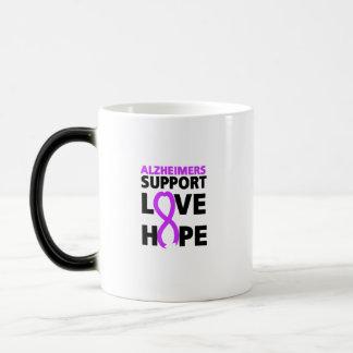 Alzheimers Awareness  Purple Ribbon Support Love Magic Mug