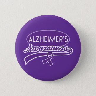 Alzheimer's Awareness Ribbon 6 Cm Round Badge